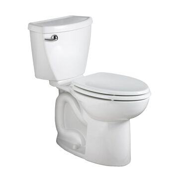 American Standard Cadet 3 White Elongated Chair Height 2-Piece Toilet 10-in Rough-In Size (ADA Compliant)