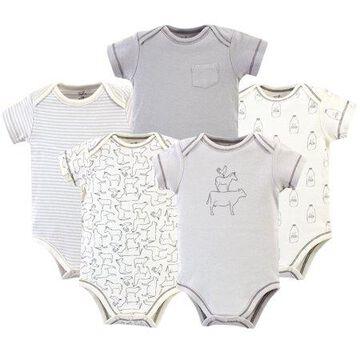 Hudson Baby Girl Sleeveless Bodysuits, 5-pack