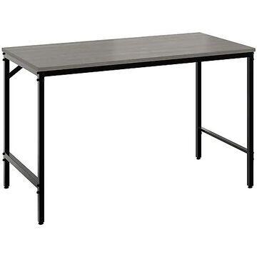"""Safco Simple 46"""" Workstation Desk, Sterling Ash (5272BLGR)"""
