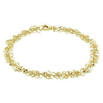 Mondevio 14k Gold 6.5MM Rolo Chain Necklace