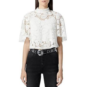 The Kooples High Neck Lace Top