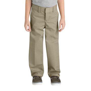 Genuine Dickies Boys School Uniform Classic Fit Straight Leg Flat Front Pants (Big Boys)