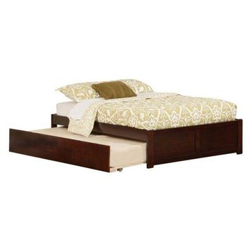Atlantic Furniture Concord Urban Full Trundle Platform Bed, Walnut
