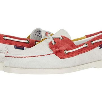 Sebago Portland Jibs Flags (Off-White/Red/Yellow) Men's Shoes