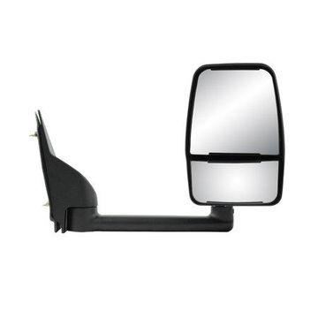 62169G - Fit System Passenger Side Towing Mirror for 03-18 Chevrolet Express Van/ GMC Savana Full Size Van, textured black w/ PTM cover, dual lens, foldaway, Manual