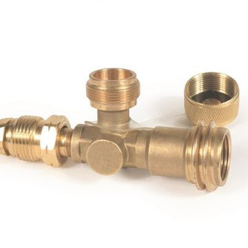 Camco 59093 Brass Tee With 3 Ports