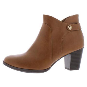 Giani Bernini Womens Abalina Faux Leather Block Heel Booties