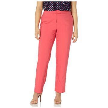 ANNE KLEIN Womens Coral Wear To Work Pants Plus Size: 22W