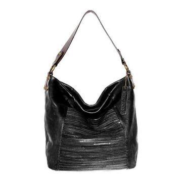 Nino Bossi Women's Jaiden Leather Shoulder Bag Black - US Women's One Size (Size None)