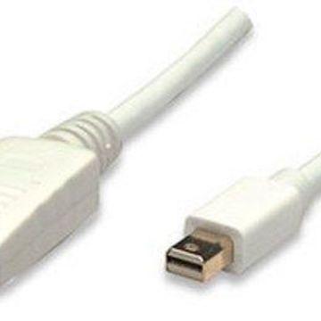 Manhattan 6.6' Mini Display Port Monitor Cable - White