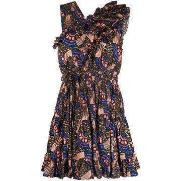Iliana geometric print dress