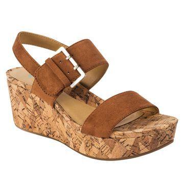Andrew Geller Jolene Cork Platform Wedge Sandal