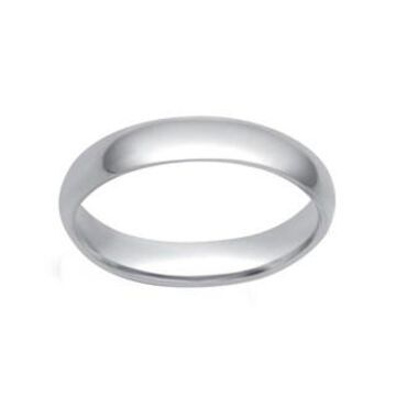Divina 10KT White or Yellow Gold 4-millimeter Plain Wedding Band