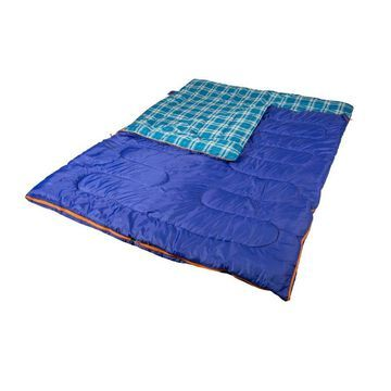Stansport Stansport 6 -lbs Mammoth Double 2-Person Sleeping Bag Polyester in Blue
