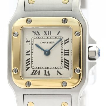 Cartier Santos Galbee Silver gold and steel Watches