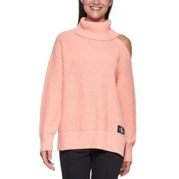 Calvin Klein Jeans Cut-Out-Shoulder Turtleneck Sweater
