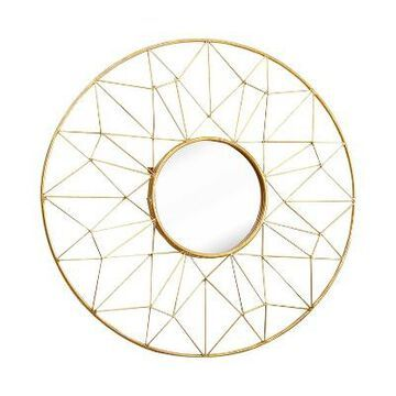 Hayley Round Wall Mirror Gold - Abbyson Living