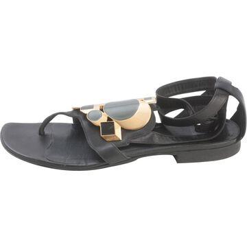 Pierre Hardy Black Leather Heels