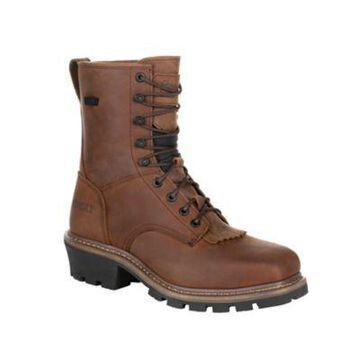 Rocky Men's Square-Toe Logger Work Boots, Waterproof, RKK0276