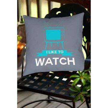 Thumbprintz I like to Watch Indoor/Outdoor Pillow