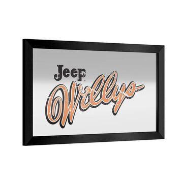 Jeep Willys Vintage Framed Bar Mirror