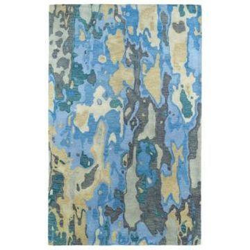 Kaleen Brushstrokes BRS05-17 Blue 2' x 3' Area Rug