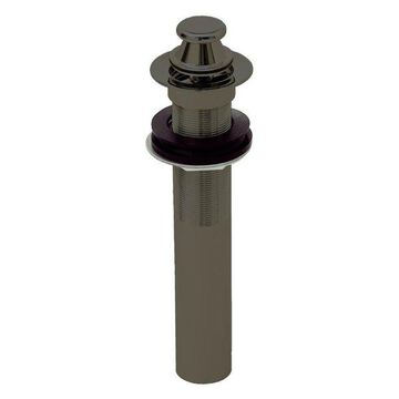 Lift and Turn Lavatory Drain Without Overflow Holes, Exposed, Oil Rubbed Bronze