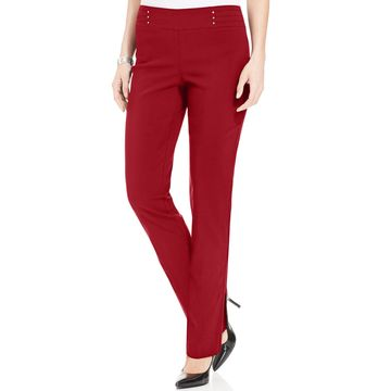 Petite Studded Pull-On Pants, Created for Macy's