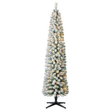 7Ft Pre-Lit Artificial Pencil Christmas Tree, Clear Lights by Ashland   Michaels