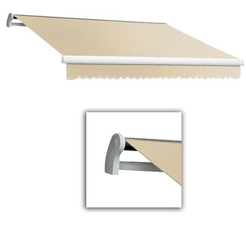 Awntech Maui 192-in Wide x 120-in Projection Linen Solid Motorized Retractable Patio Awning in Off-White | MTL16-L-L