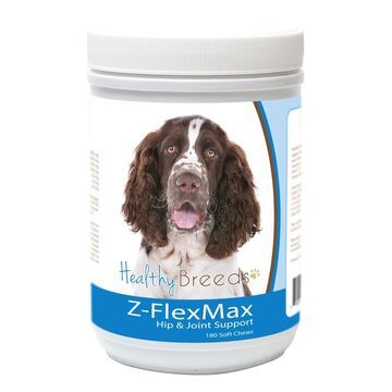 840235156222 English Springer Spaniel Z-Flex Max Dog Hip & Joint Support - 180 Count