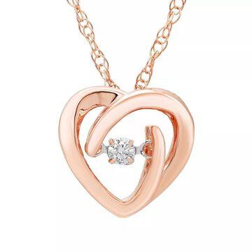 """Boston Bay Diamonds Brilliance in Motion Diamond Accent Heart Pendant Necklace, Women's, Size: 18"""", White"""