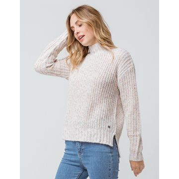 Rose High Neck Womens Sweater