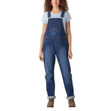 Women's Dickies Boyfriend Bib Overalls, Size: Medium, Blue