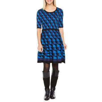 Danny & Nicole Short Sleeve Sweater Dress