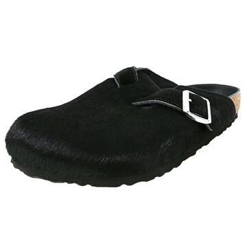 Birkenstock Boston Rivet Logo Faux Fur Sandal
