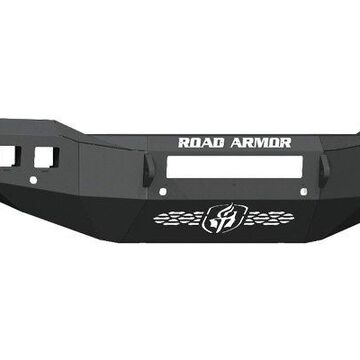 2021 Ram 3500 Road Armor Stealth Bumpers, Stealth Front Non-Winch Bumper with 6 Sensor Holes - Texture Black - 4192F0B-NW