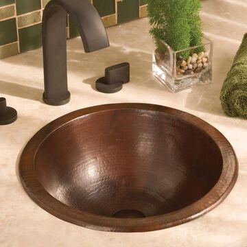 Paloma Antique Copper Undermount/ Drop-in Round Bathroom Sink