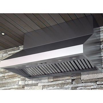 Zephyr AK7854BS 450 - 1200 CFM 54 Inch Wide Stainless Steel Outdoor Wall Mounte