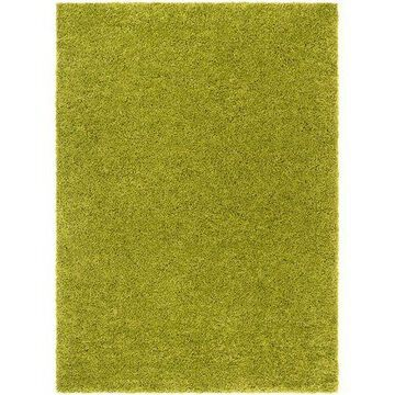 Well Woven Madison Shag Plain Modern Solid Green 3'3