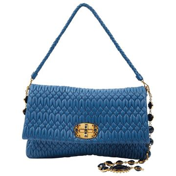 Miu Miu Miu Miu Cristal Blue Leather Handbag