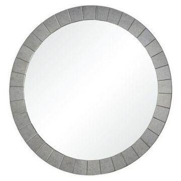 Ren-Wil Sammy 36-Inch Round Wall Mirror in Silver