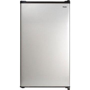 Haier 2.7 Cu Ft Single Door Compact Refrigerator Virtual Steel Mini Fridge Dorm