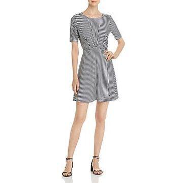 Vero Moda Pleated Striped Dress