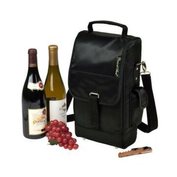 Picnic at Ascot Stylish Insulated 2 Bottle Wine Tote Bag with Corkscrew
