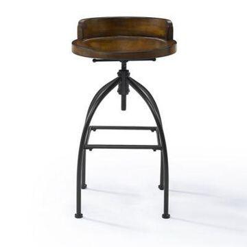 Crosley Furniture Edison Wood and Metal Adjustable Bar Stool
