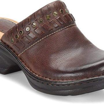 Comfortiva Womens Lorain Leather Round Toe Clogs