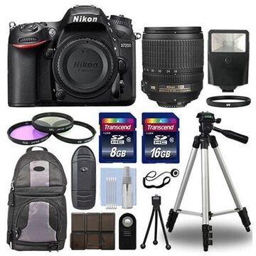 Nikon D7200 Digital SLR Camera Body + 18-105mm VR Lens + 24GB Accessories Kit