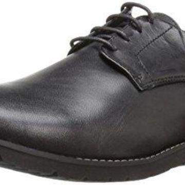 Propet Men's Grisham Oxford, Black, 10 3E US