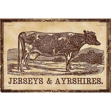 Marmont Hill - Handmade Cows Jerseys Painting Print on Canvas